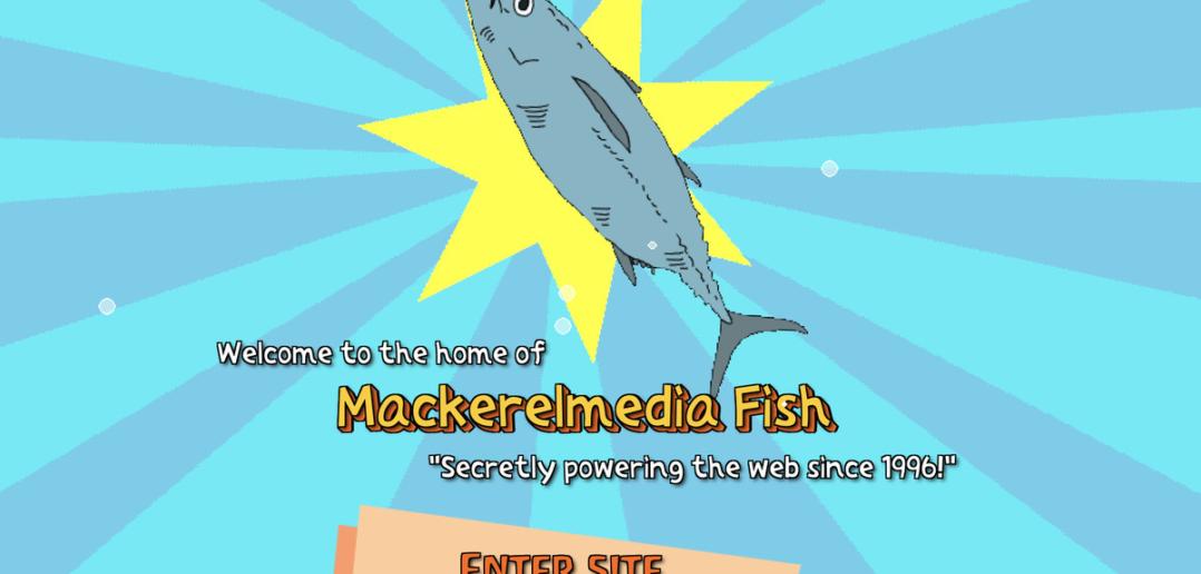 Jogue Mackerelmedia Fish, uma ode estranhamente adorável a sites moribundos