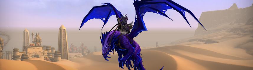 world of warcraft dragon desert banner