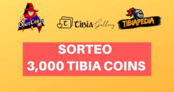 Sorteio de 3.000 moedas do Tibia - TibiaPedia