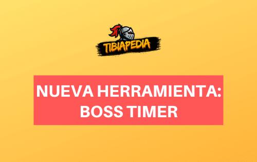 Nova ferramenta: Boss Timer - TibiaPedia